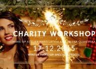 Снежный макияж со спец эффектами, работа с аэрографом. Благотворительный семинар.