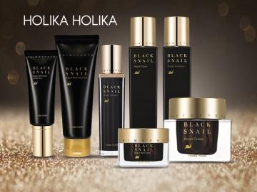 <i>70% муцина</i> черной улитки в линейке <b>Holika Holika Prime Youth Black Snail Repair </b>