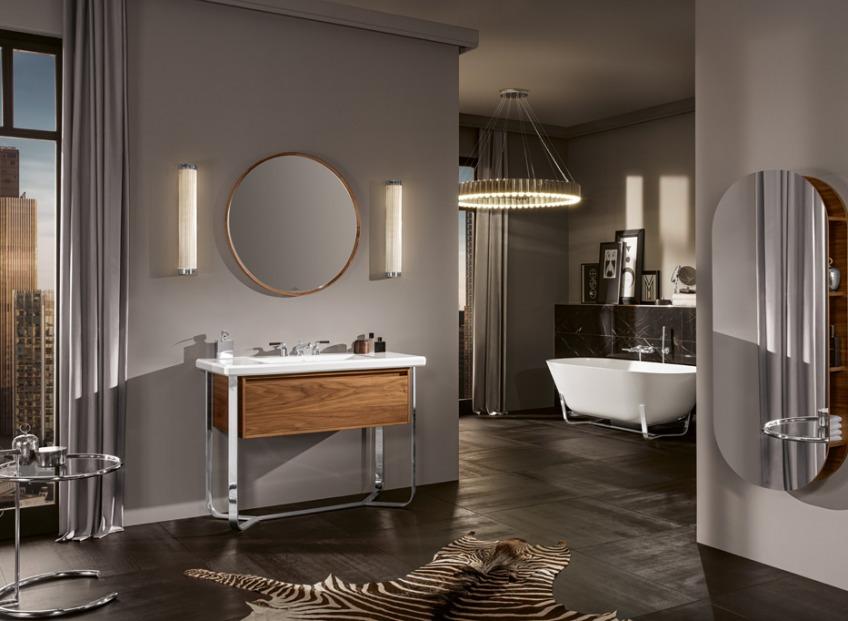 Titānika flīžu raksti un pasaules metropoļu retro elpa vannas istabā!