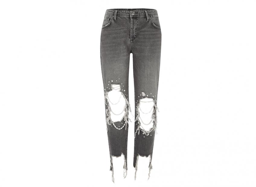 <b>Pearl Ripped Boyfriend Jeans</b>