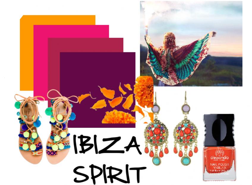 Beauty тренды фестиваля Ibiza Spirit SS 2017. Цвет маникюра в духе стиля Бохо.