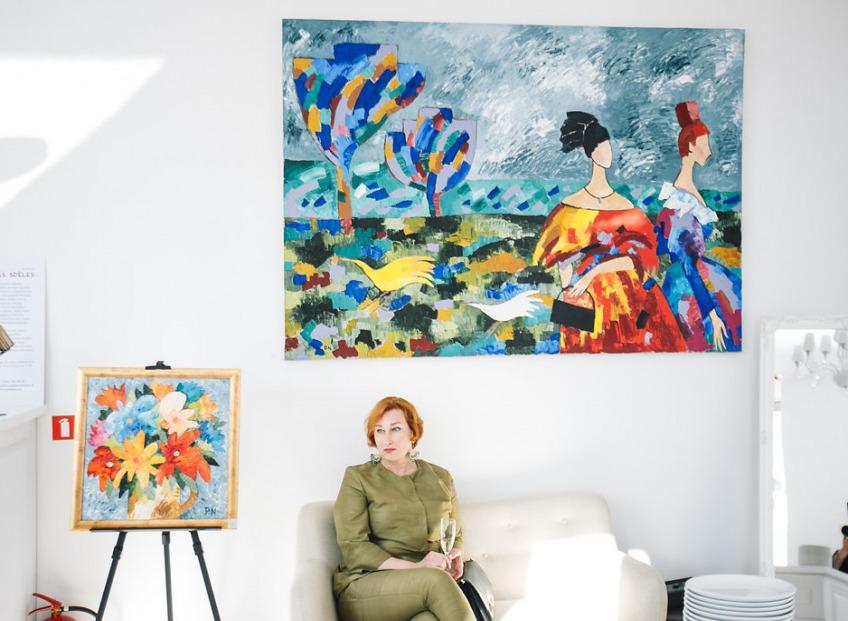 В Baltā Kumode открылась выставка известной российской художницы Наталии Панковой